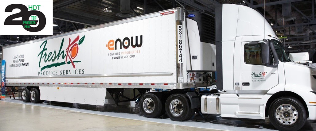 Photo of eNow Solar-Electric Reefer Trailer