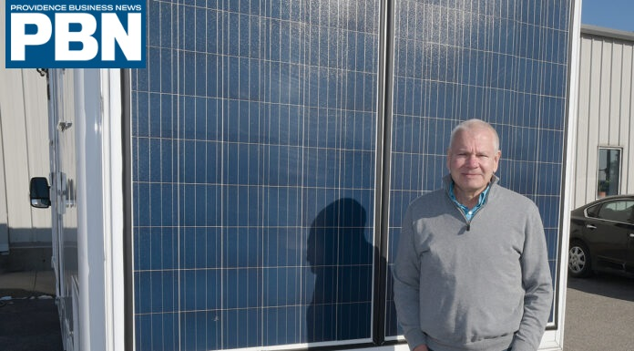 eNow solar-electric reefer system highlighted by PROVIDENCE BUSINESS NEWS.
