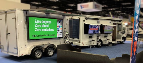 eNow at NTEA Work Truck Show: Unveils new solar-electric reefer demo trailer