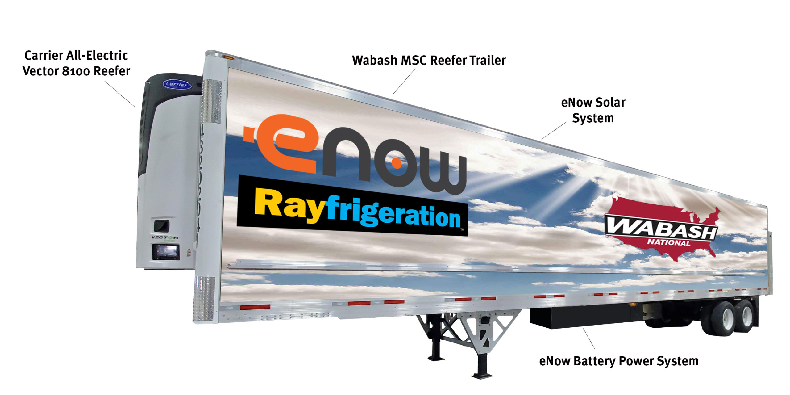 eNow Rayfrigeration Wabash MSC trailer