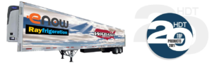 Wabash - eNow Rayfrigeration trailer and HDT Top 20 logo